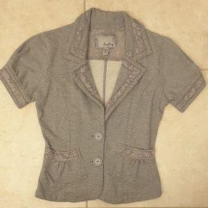 Gray cotton blazer size Medium